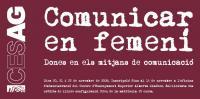 flyer comunicar en femení