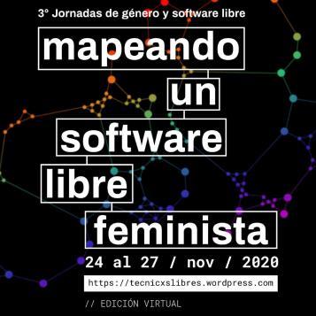 poster: mapeando un software libre feminista