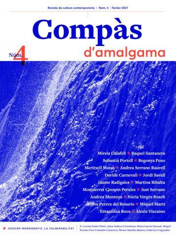 Portada de la revista: foto en blau i vermell amb una cascada
