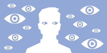 Facebook eyes illustration