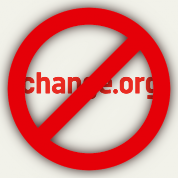 Prohibit Change.org