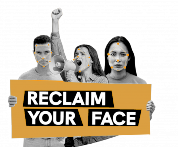 three people with reclaim your face