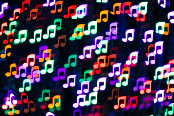 music notes different colors