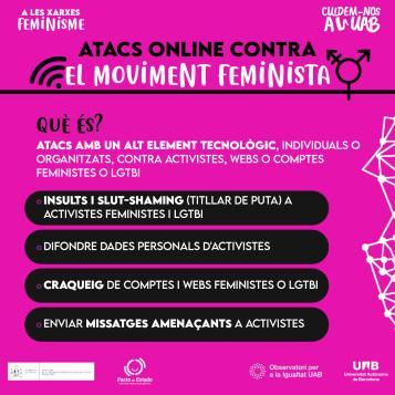 Targeta atacs contra el moviment feminista i lgtbi