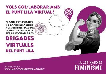 cartell a les xarxes feminisme