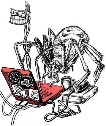 Ilustración araña informática